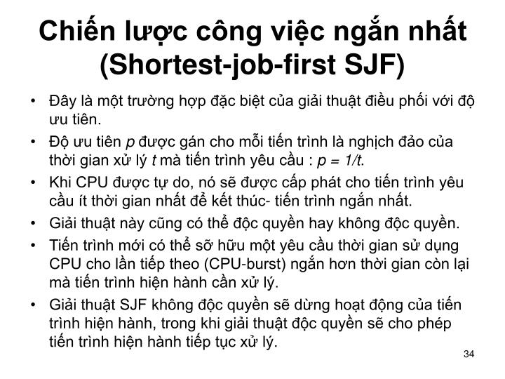 Chin lc cng vic ngn nht (Shortest-job-first SJF)