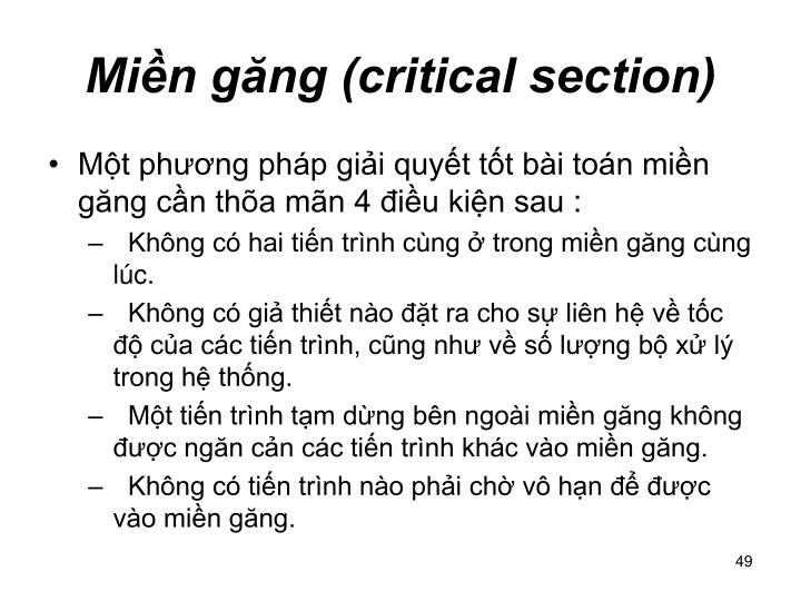 Min gng (critical section)