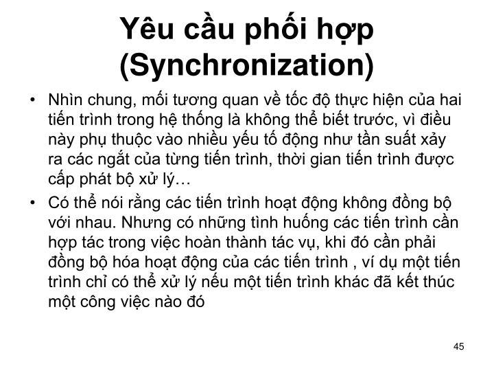Yêu cầu phối hợp (Synchronization)