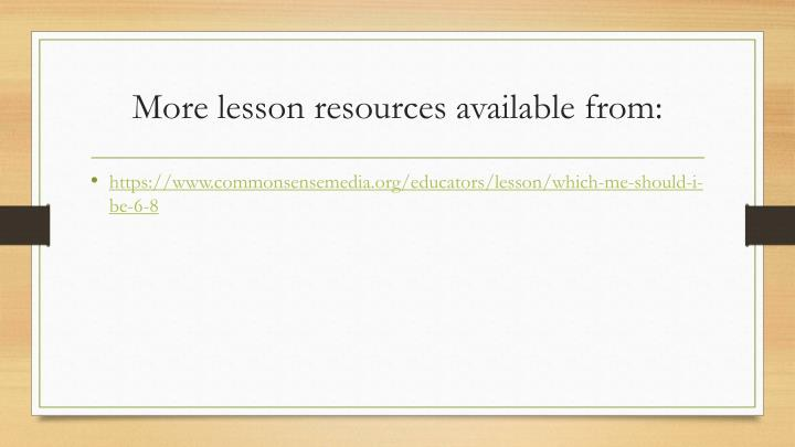 More lesson resources available from: