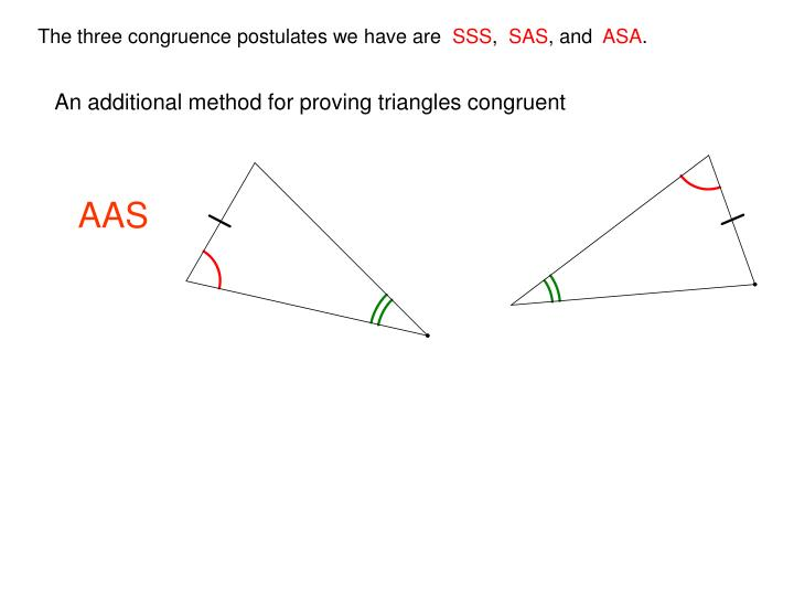 An additional method for proving triangles congruent