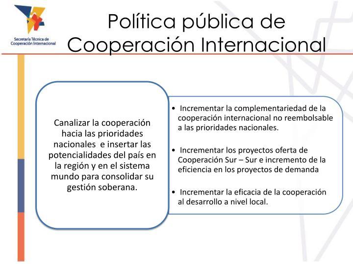 Política pública de Cooperación Internacional