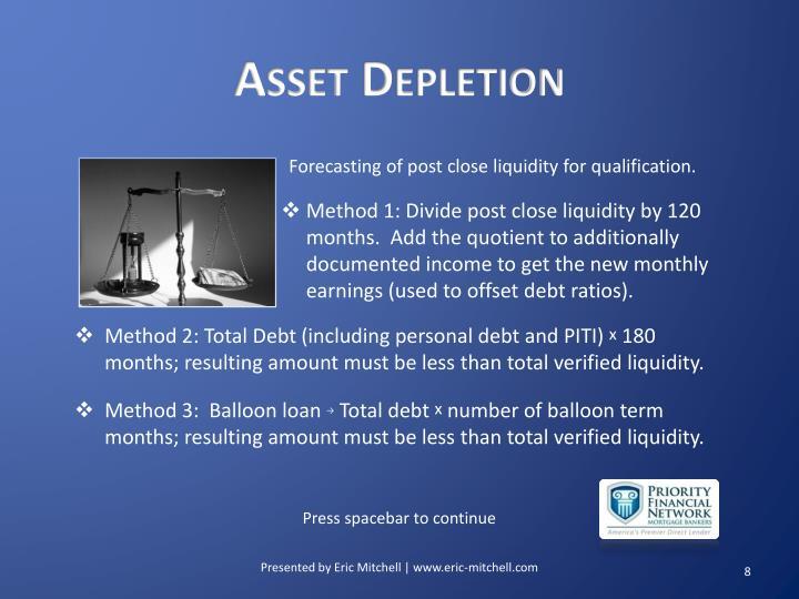 Asset Depletion