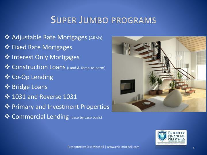 Super Jumbo programs