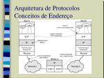 arquitetura de protocolos conceitos de endere o