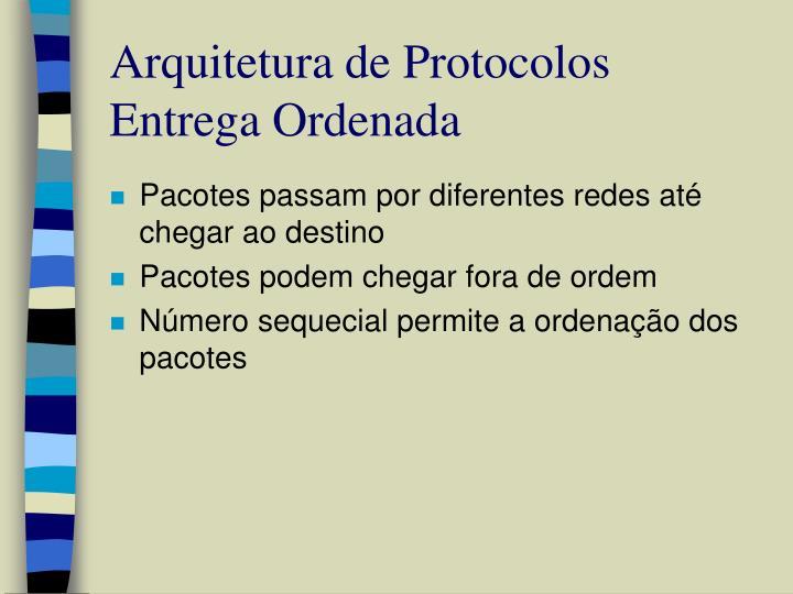 Arquitetura de Protocolos Entrega Ordenada