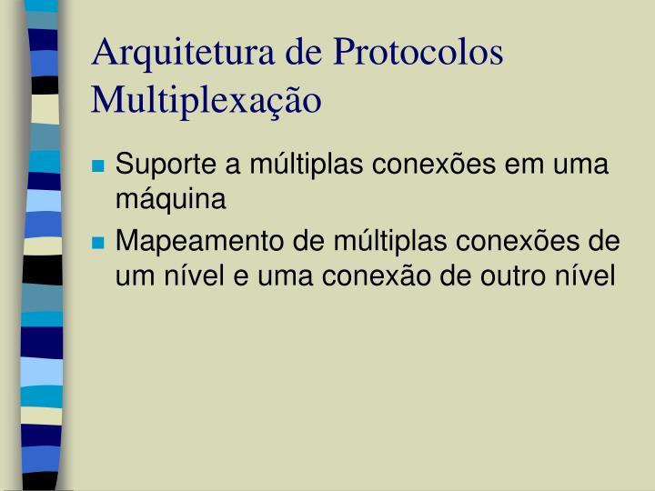 Arquitetura de Protocolos Multiplexação