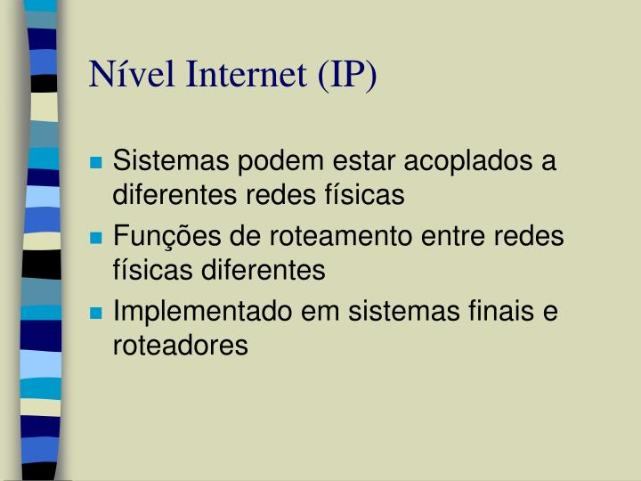 Nível Internet (IP)