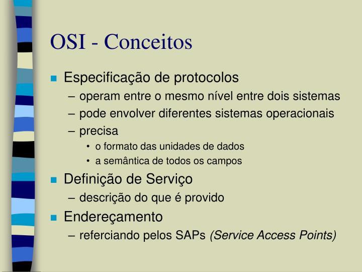 OSI - Conceitos