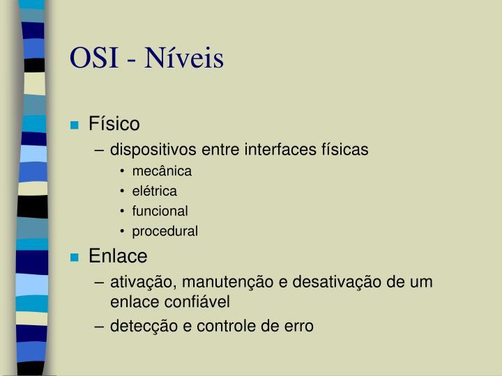 OSI - Níveis