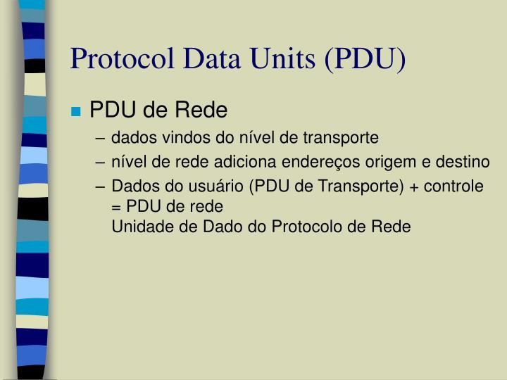 Protocol Data Units (PDU)