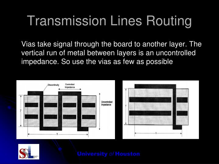 Transmission Lines Routing