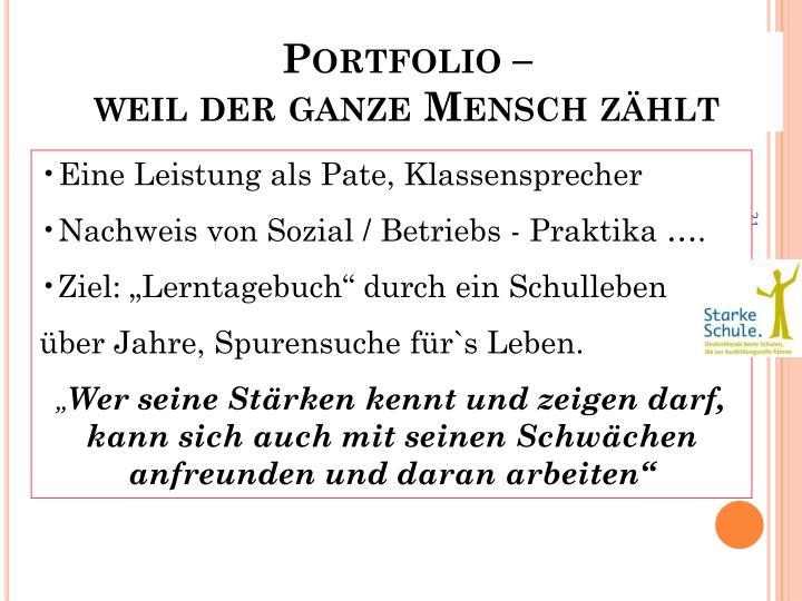 Portfolio –