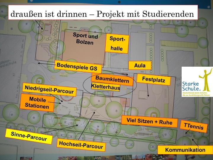 draußen ist drinnen – Projekt mit Studierenden