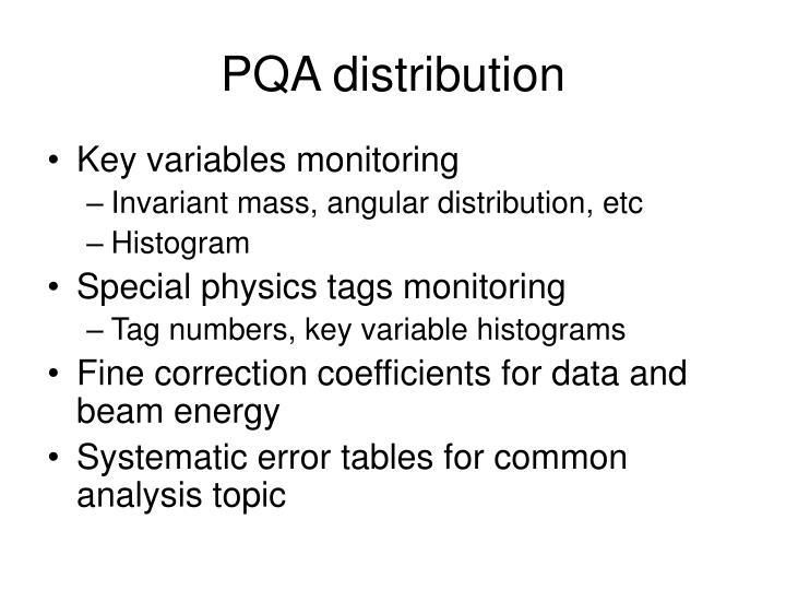 PQA distribution