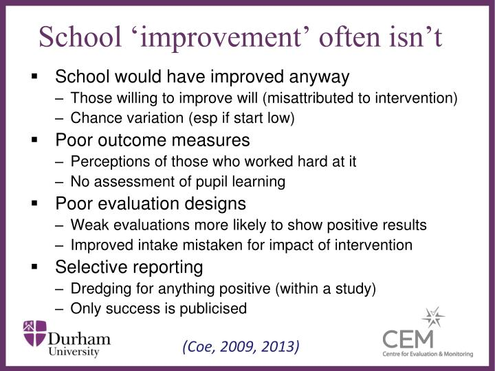 School 'improvement' often isn't