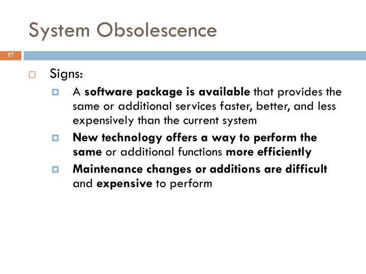 System Obsolescence