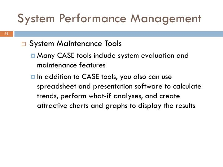 System Performance Management