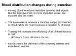 blood distribution changes during exercise