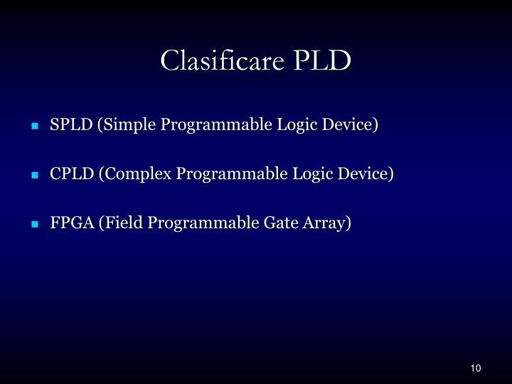Clasificare PLD