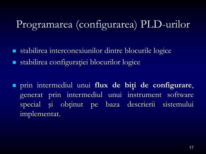 Programarea (configurarea) PLD-urilor
