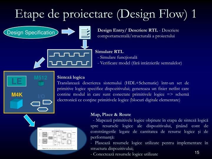 Etape de proiectare (