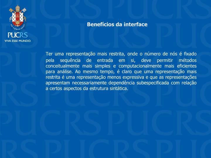 Benefcios da interface