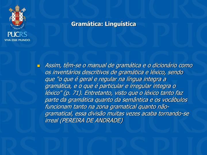 Gramtica: Lingustica