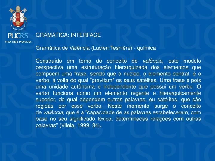 GRAMTICA: INTERFACE