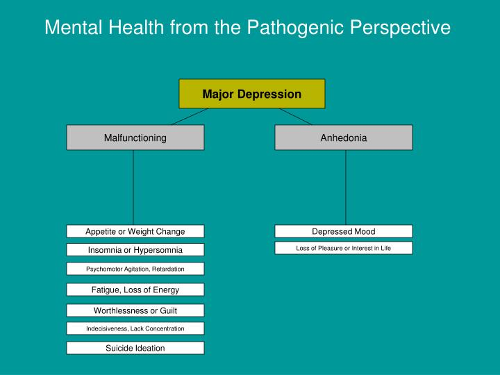Mental Health from the Pathogenic Perspective
