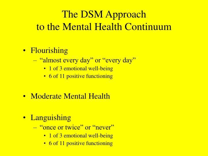 The DSM Approach
