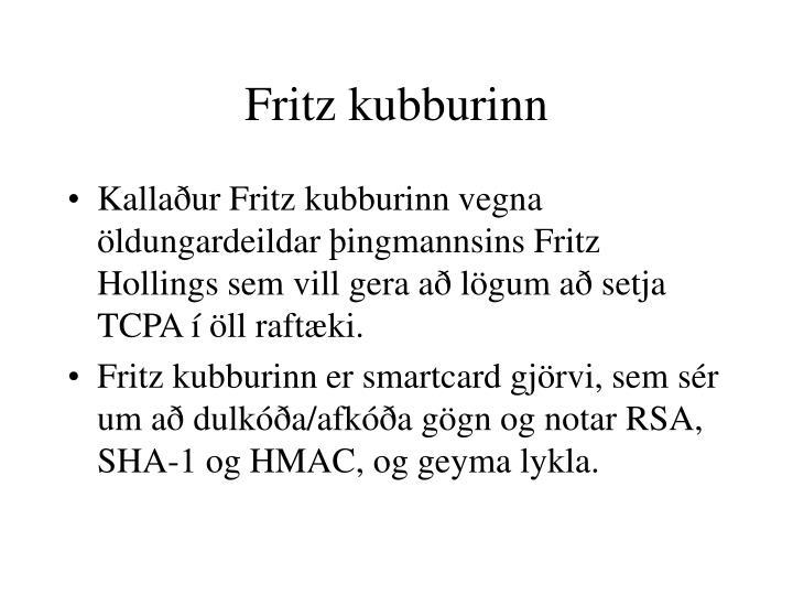 Fritz kubburinn
