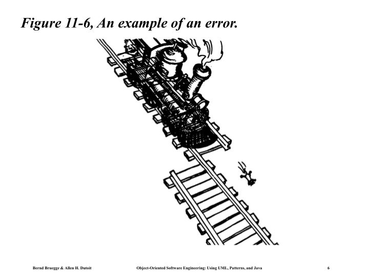 Figure 11-6, An example of an error.