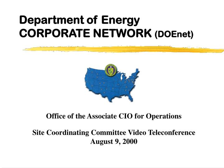 Department of energy corporate network doenet