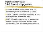 implementation status ds 3 circuits upgrades