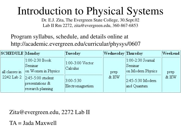 Introduction to Physical Systems