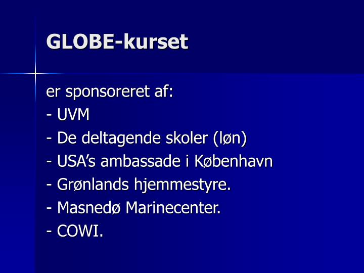 GLOBE-kurset