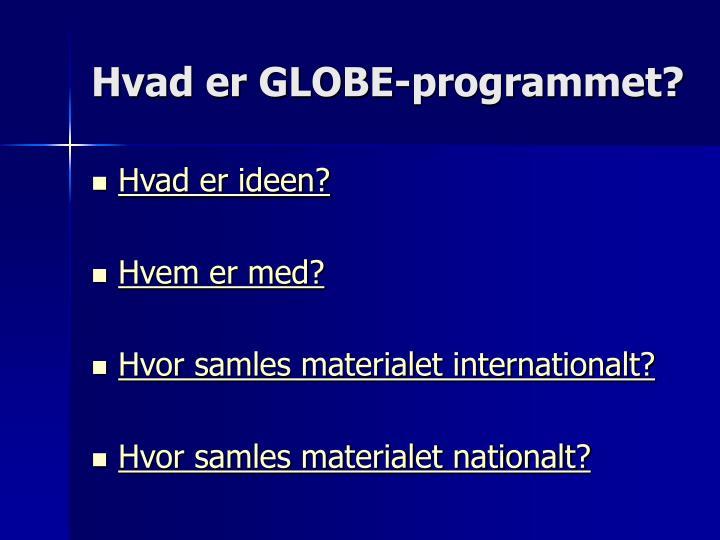 Hvad er GLOBE-programmet?