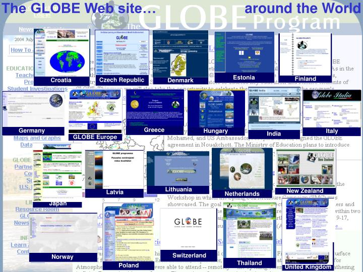 The GLOBE Web site…