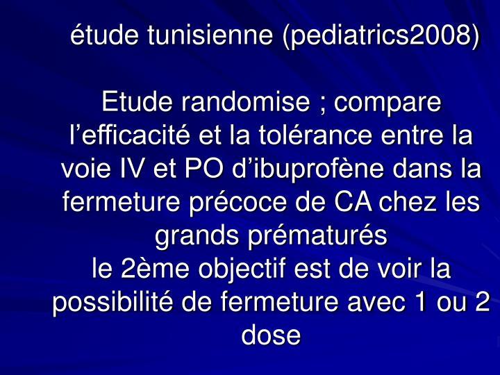 étude tunisienne (pediatrics2008)