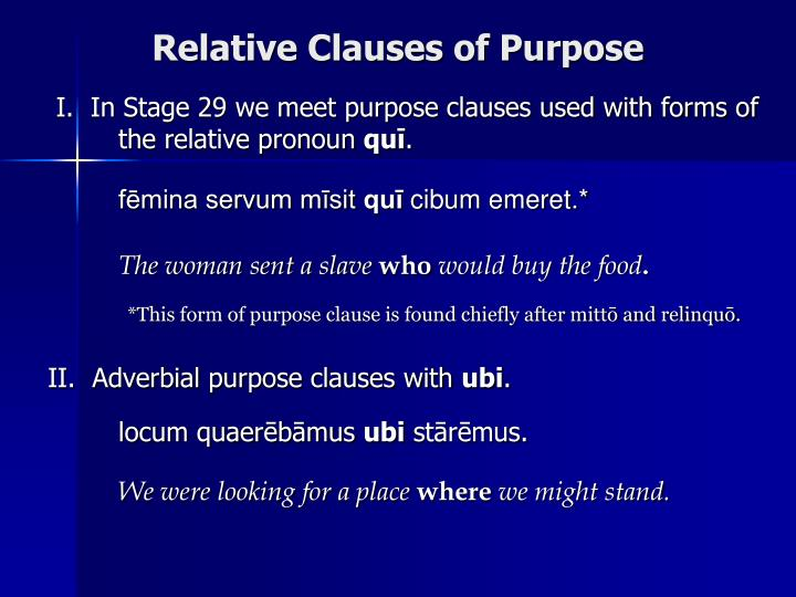 Relative Clauses of Purpose