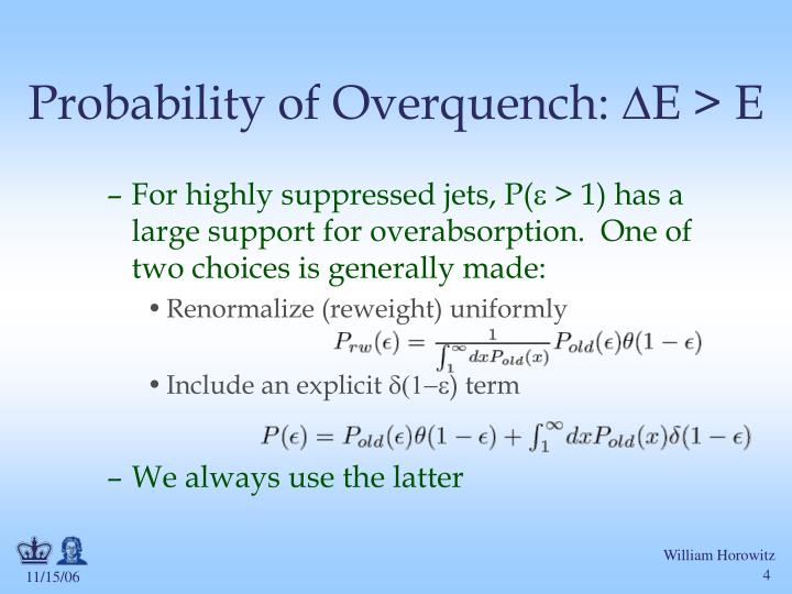 Probability of Overquench: