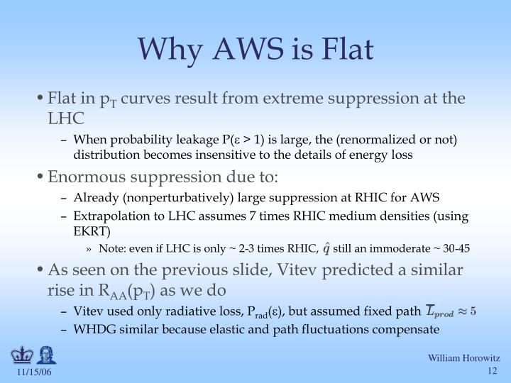 Why AWS is Flat