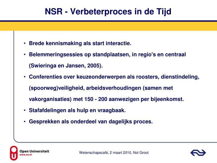 NSR - Verbeterproces in de Tijd