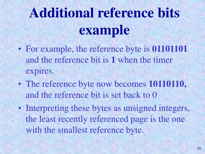 Additional reference bits example