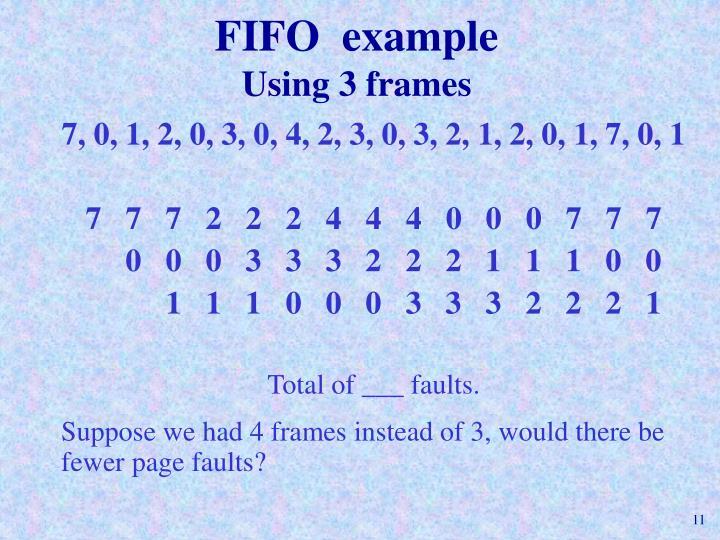FIFO  example