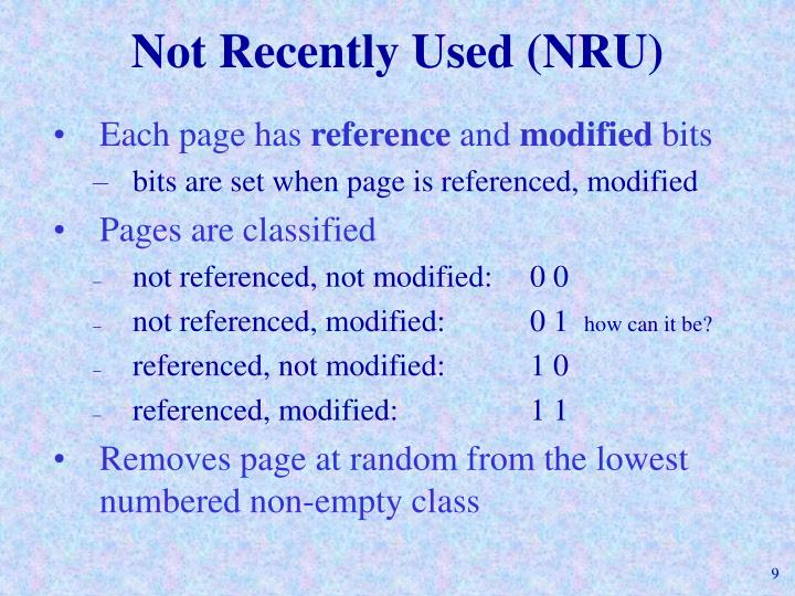 Not Recently Used (NRU)