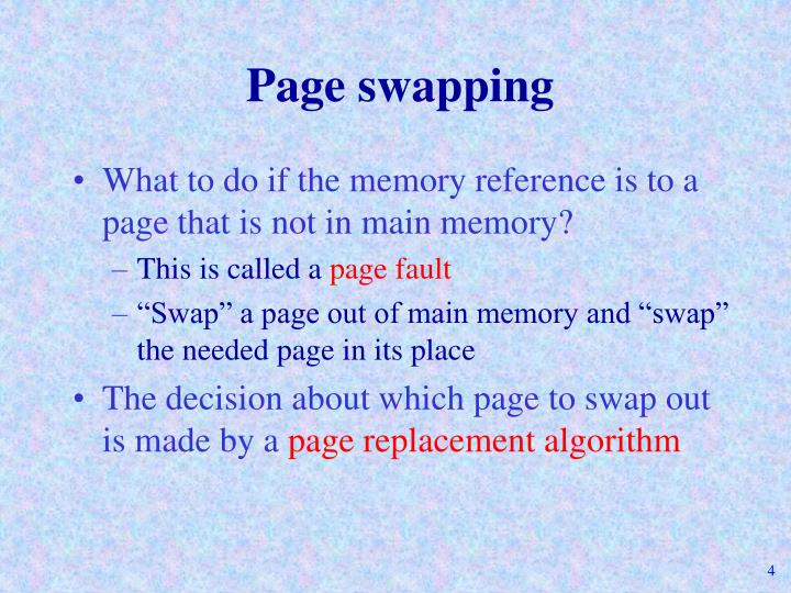 Page swapping