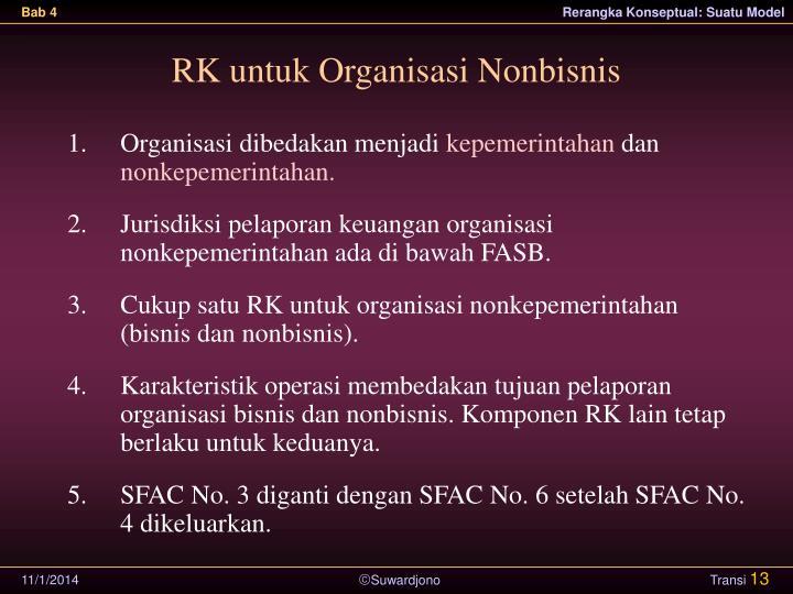 RK untuk Organisasi Nonbisnis
