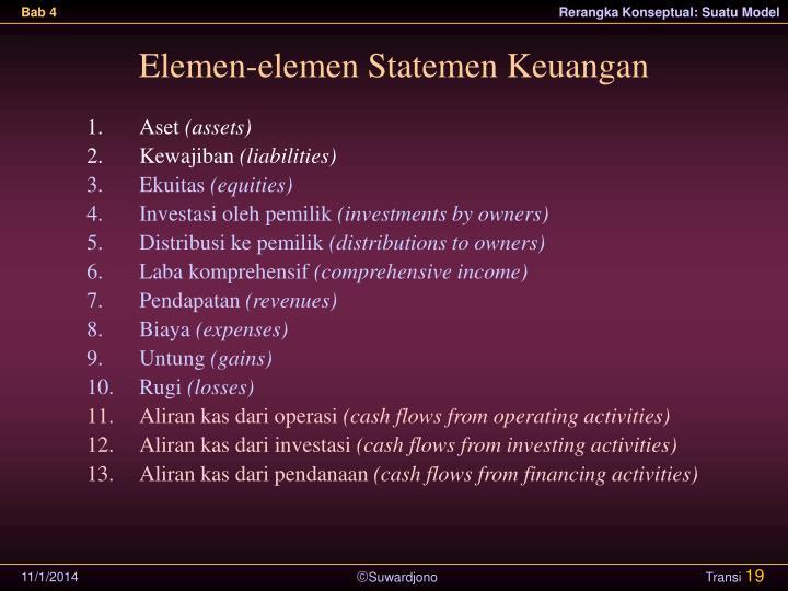 Elemen-elemen Statemen Keuangan